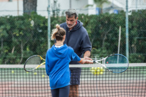 66096512 - children at school during a dribble of tennis